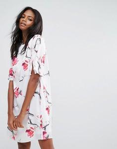 Платье с цветочным принтом Y.A.S - Мульти