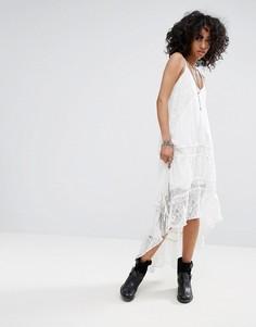 Платье макси с цепочкой Religion - Белый