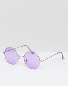 Большие круглые солнцезащитные очки с сиреневыми стеклами Jeepers Peepers - Фиолетовый