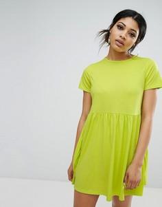 Свободное платье-футболка Daisy Street - Зеленый