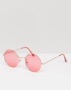 Большие солнцезащитные очки с розоватыми стеклами Jeepers Peepers - Розовый