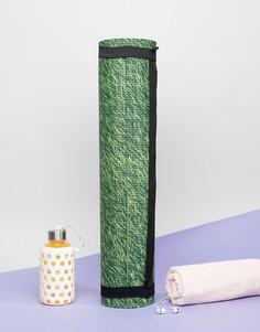 Коврик для занятий йогой с принтом травы Doiy - Мульти
