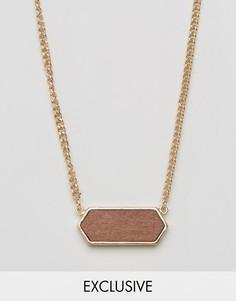 Золотистое ожерелье с подвеской DesignB эксклюзивно для ASOS - Золотой
