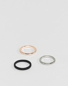 3 кольца DesignB эксклюзивно для ASOS - Мульти