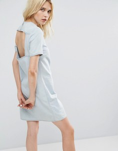 Джинсовое платье с открытой спиной Cheap Monday - Синий