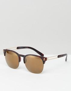 Солнцезащитные очки в стиле ретро в черепаховой оправе AJ Morgan - Коричневый