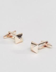 Квадратные запонки цвета розового золота DesignB эксклюзивно для ASOS - Золотой