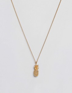 Позолоченное ожерелье с ананасом Bill Skinner - Золотой