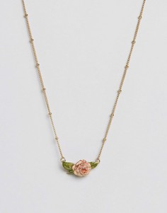 Ожерелье в винтажном стиле с розой Bill Skinner - Золотой