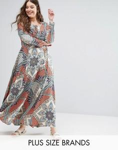 Платье макси с вышивкой Alice & You - Мульти
