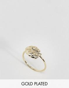 Позолоченное кольцо с пальмовым листом Orelia - Золотой