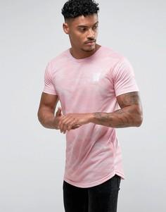 Розовая обтягивающая футболка с камуфляжным принтом Good For Nothing - Розовый