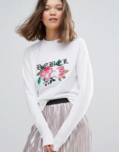 Свитшот с вышивкой Daisy Street - Белый
