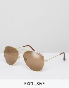 Солнцезащитные очки-авиаторы Reclaimed Vintage - Золотой