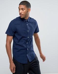 Темно-синяя рубашка классического кроя с короткими рукавами New Look - Темно-синий