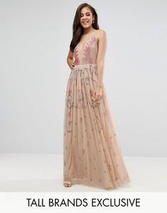 Платье макси с глубоким вырезом Maya Tall - Мульти