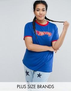 Трикотажная футболка с контрастной окантовкой Daisy Street Plus - Синий