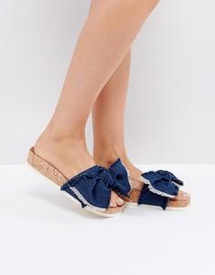 Синие джинсовые сандалии Miss KG - Синий