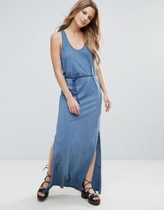 Платье макси с плетеным ремнем Brave Soul Beck - Синий