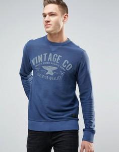 Свитшот с графическим принтом Jack & Jones Vintage - Темно-синий
