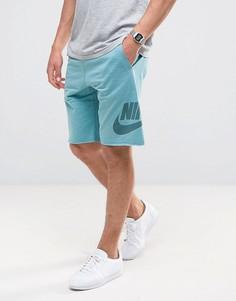 Синие махровые шорты Nike 833959-499 - Синий