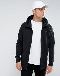 Худи черного цвета на молнии Nike 805130-010 - Черный