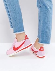 Кожаные кроссовки в стиле ретро Nike Classic Cortez - Розовый