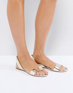 Золотистые сандалии ALDO Yoana - Медный
