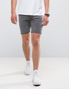 Серые джинсовые шорты с эффектом кислотной стирки Brave Soul - Серый