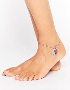 Браслет на ногу с подвеской в виде арбуза ASOS - Золотой
