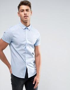 Голубая рубашка классического кроя ASOS - Синий