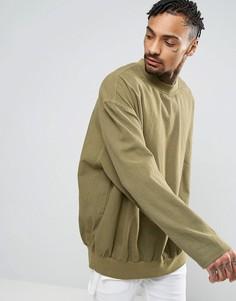 Свободная рубашка цвета хаки ASOS - Зеленый