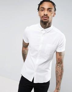 Белая супероблегающая оксфордская рубашка с воротником на пуговицах ASOS - Белый