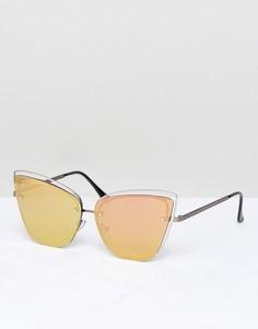 Солнцезащитные очки кошачий глаз ASOS - Золотой