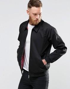 Хлопковая куртка Харрингтон черного цвета ASOS - Черный