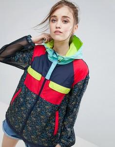 Куртка-дождевик с цветочным принтом и сеточкой ASOS - Мульти