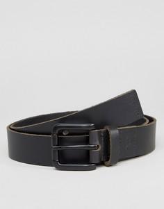 Узкий кожаный ремень Dead Vintage - Черный