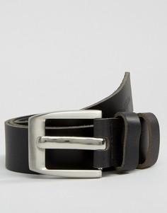 Черный кожаный ремень Dead Vintage - Черный