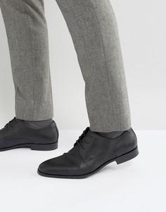 Фактурные туфли дерби со вставкой на носке ALDO Badolla - Черный