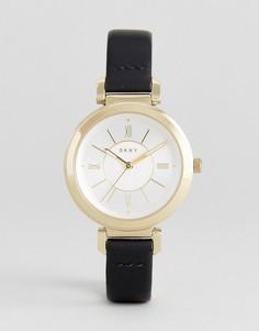 Часы с кожаным ремешком DKNY Ellington - Черный