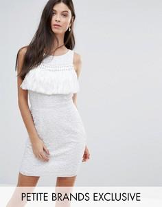 Платье мини с пайетками и кисточками Maya Petite - Белый