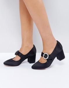 Туфли на среднем каблуке с пряжкой и камнями ASOS SUNSHINE - Черный