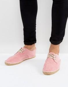 Розовые эспадрильи из искусственной замши на шнуровке ASOS - Розовый