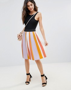 Плиссированная юбка в полоску Soaked In Luxury - Мульти