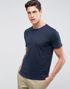 Футболка с карманом Selected Homme - Темно-синий