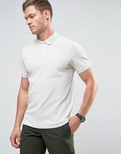 Фактурное поло Selected Homme - Серый