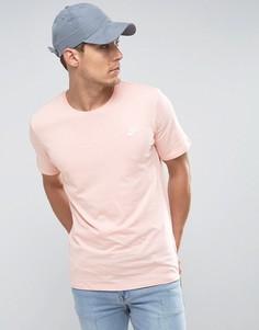 Розовая футболка с вышитой галочкой Nike 827021-876 - Розовый