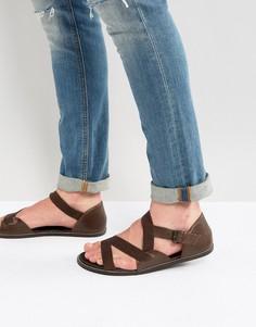Коричневые кожаные сандалии ASOS - Коричневый