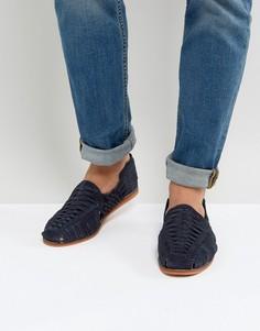 Темно-синие плетеные замшевые сандалии ASOS - Темно-синий