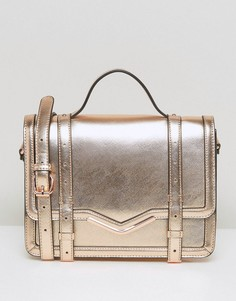 Структурированная сумка‑сэтчел ASOS - Золотой